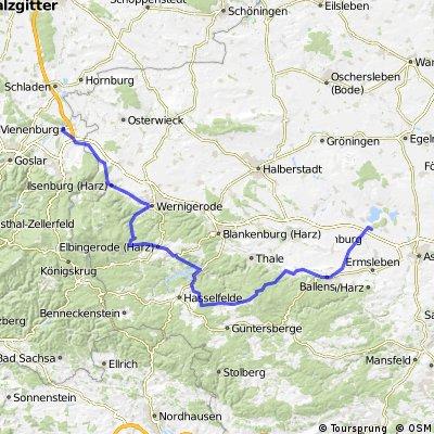 Vienenburg - Elbingerode - Friedrichsbrunn - Nachterstedt