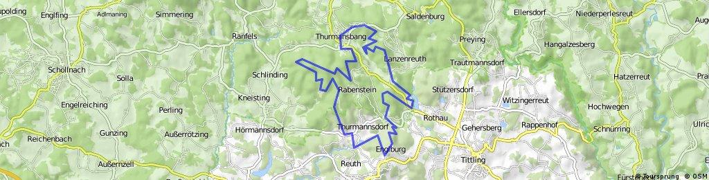 Thurmansbang - Englburg - Ochsenstiegl = MTB-Runde