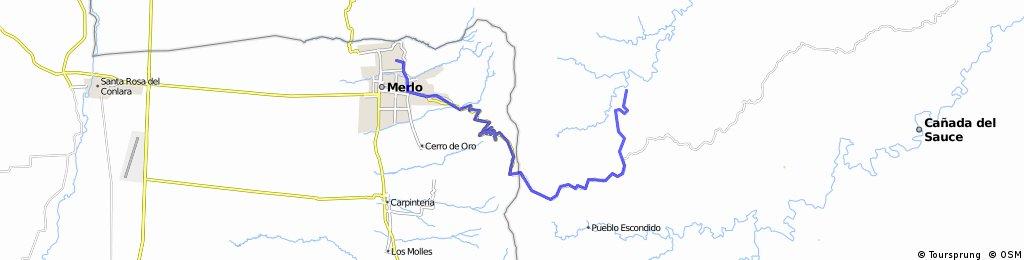 Salto Velo de Novia - Vallecitos - Merlo (Regreso)