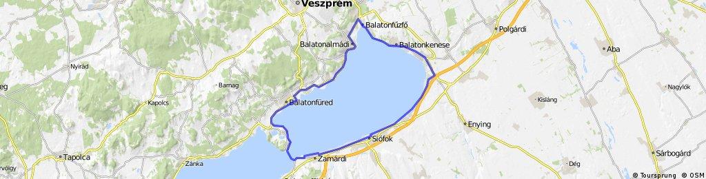 Zamardi - Siofok - Balatonkenese - Tihany - Zamardi
