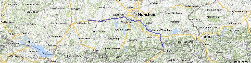 1. Etappe Mindelheim - Oberaudorf