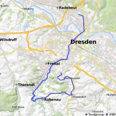 Freital - Obernaundorf - Rabenau - Dresden