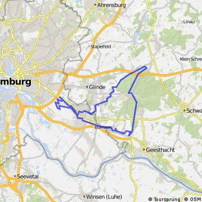 HFS Variante: Boberg-Bille-Sachsenwald-Geestkante-Boberg