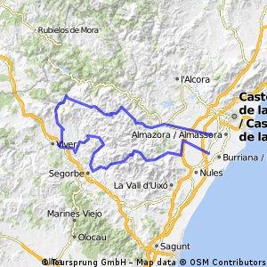 Alquerías-Torralba-Gaibiel-Castellnova-Almedíjar-Eslida-Alquerías