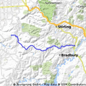 Stage 3 - Mylor Oval to Wittunga Botanic Gardens