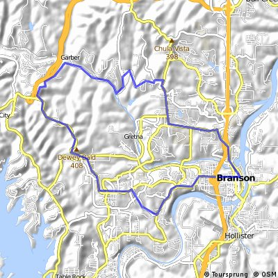 Cycling routes and bike maps in and around Branson | Bikemap - Your ...