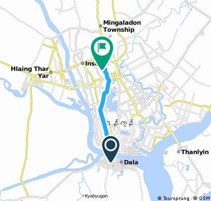 ride through Yangon