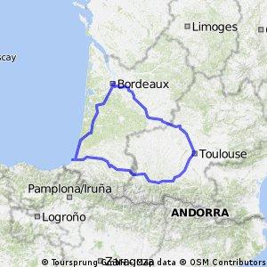 Canal du  Midi Biarritz Rondje Bordeaux
