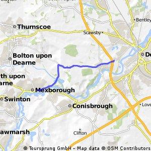 Brief ride through Doncaster