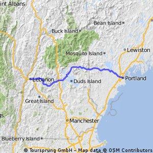 Steph's NT Bike Route