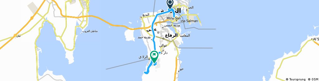 Cycling Route In Manama Over Km Bikemap Your Bike Routes - Bahrain interactive map