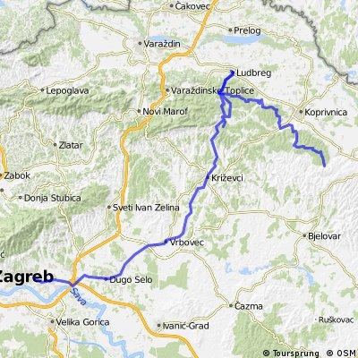 bike ruta Ludbreg-KC-Javorovac