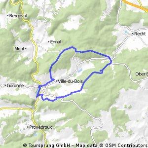 Poteau - Vielsalm 3 (verkort) startpunt La Borne 23KM