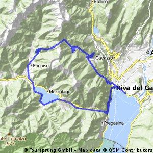 Riva - Ponale - Lago di Ledro - Malga Trata - Riva