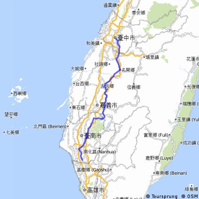 Taichung to Tainan Foothils