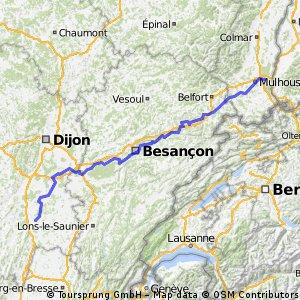 Mulhouse > Chalon-sur-Saone