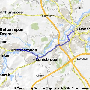 bike tour through Doncaster