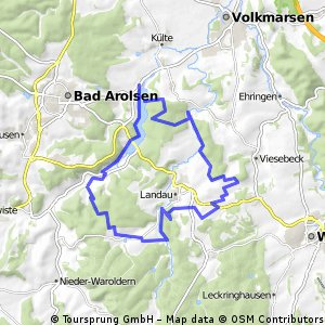 Wetterburg Mountainbike-Tour 30 km