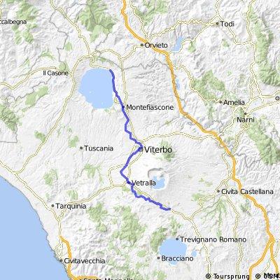 Via Francigena bike Bolsena -Sutri