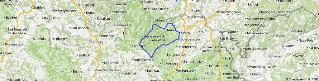 Naila-Stadtsteinach-Unterrodach-Bad Steben-Naila