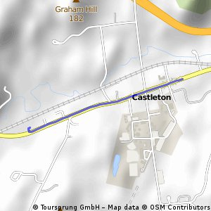 Brief ride from  to Castleton