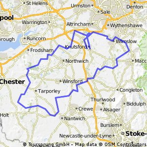 Map Of England Knutsford.Cycling Routes And Bike Maps In And Around Knutsford Bikemap