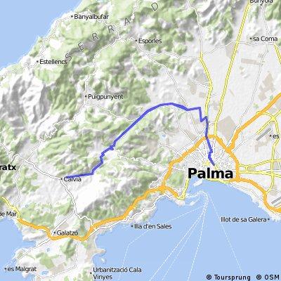 Mallorca: Plaça d'Espanya (Palma)-Establiments-Calvià i tornar