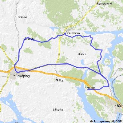 Krägga - Långtora - Krägga 85 km