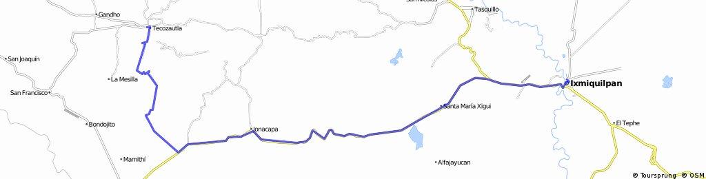 J77 – Dimanche 27 mars 2016 – Tecozautla – Ixmiquilpan