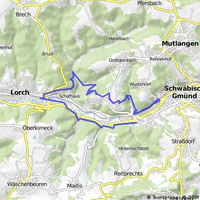 MTB Tour Schwäbisch Gmünd-Lorch-Schwäbisch Gmünd