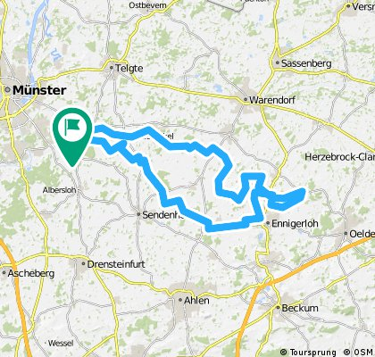 Permanente RTF Perle des Münsterlandes, lang, 77 km