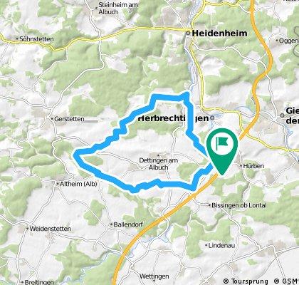Eselsburger Tal Runde 32km