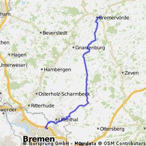 Zur RTF nach Bremen