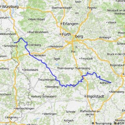 Altmühlradweg: Rothenburg-Kelheim