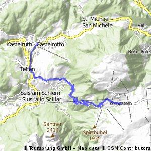 Giro d'Italia 2016 Stage 15: 10.8 km Castelrotto/Kastelruth - Alpe di Siusi/Seiseralm