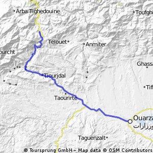 Ouarzazate to Afra