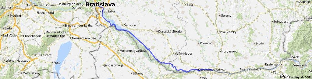 Bratislawa - Komarno - rive droite -Slovaque