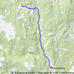 Lengthy bike tour from  to Kongsberg