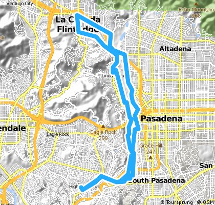 Long bike tour through Los Angeles