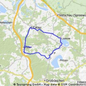 Calau Gräbendorfer See Rundstrecke
