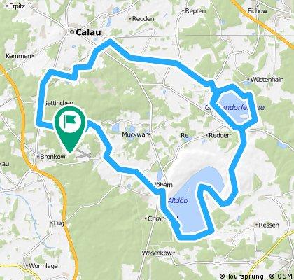 62km Calauer Schweiz - Altdöberner See - Gräbendorfer See