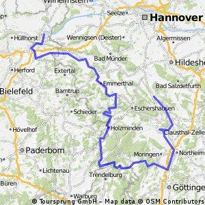 Weser-Leine-Tour Ostern 2016