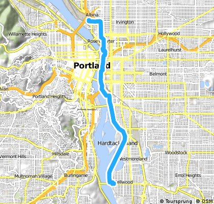 ride through Portland