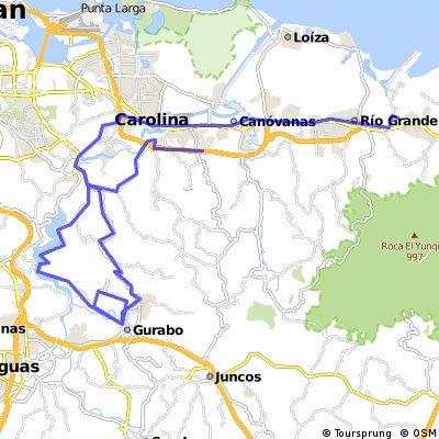 Lengthy bike tour from Rio Grande to Carolina