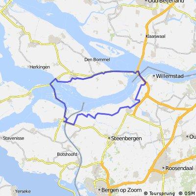 Oude-Tonge Krammer via Benedensas en Dintelmond weer naar Oude-Tonge