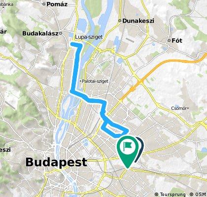 Long ride through Budapest XIV. kerület