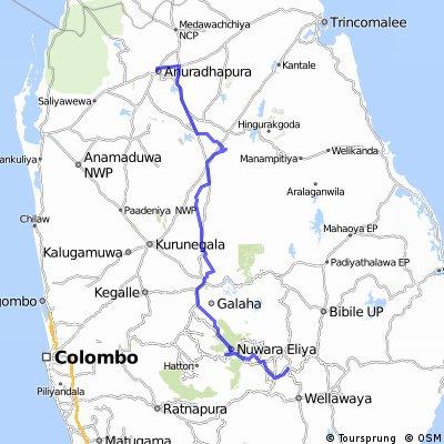 Ella-Nuwara Eliya-Kandy-Dambulla-Sigiria-Mihintale-Anuradhapura