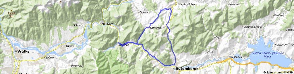 Long bike tour through Hubová