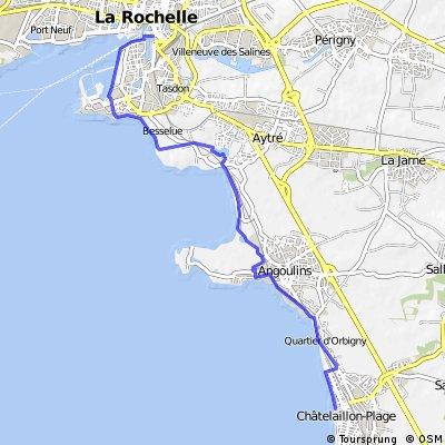 La Rochelle to Chatelaillon from  #33 La Vélodyssée