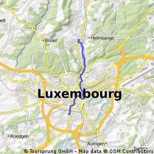bike tour from Walferdange to Luxembourg